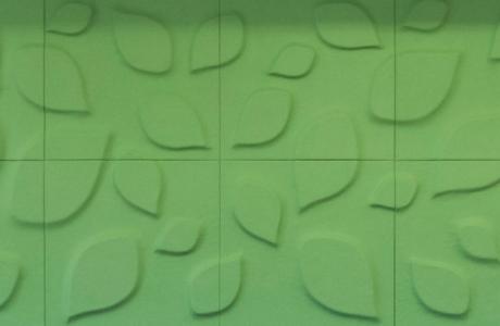 Soundcomb in Grün mit Blättermuster